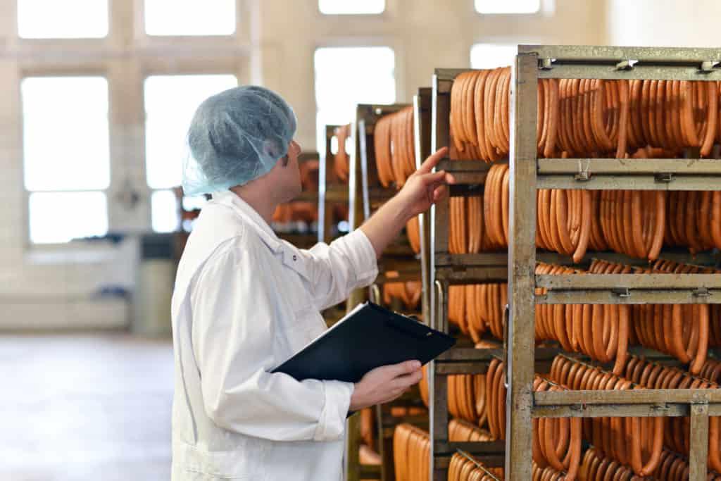 Qualitätskontrolle in d. Lebensmittelindustrie - Schlachthof